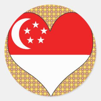 I Love Singapore Classic Round Sticker