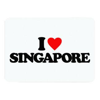 I LOVE SINGAPORE 13 CM X 18 CM INVITATION CARD