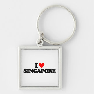 I LOVE SINGAPORE KEY RING