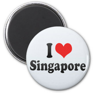 I Love Singapore Magnet