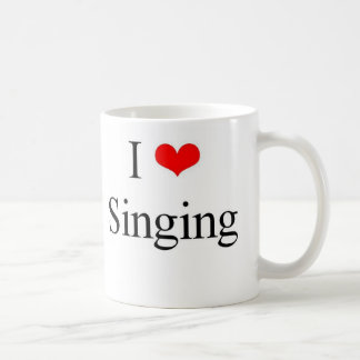 I Love Singing Coffee Mug