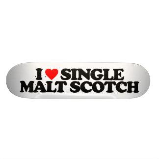 I LOVE SINGLE MALT SCOTCH 19.7 CM SKATEBOARD DECK