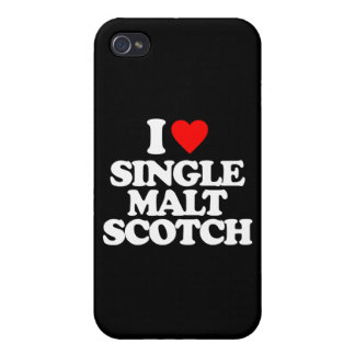 I LOVE SINGLE MALT SCOTCH iPhone 4/4S CASES