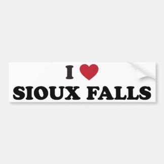 I Love Sioux Falls South Dakota Bumper Sticker