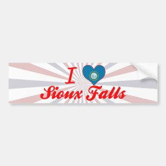 I Love Sioux Falls, South Dakota Bumper Sticker