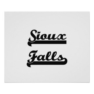 I love Sioux Falls South Dakota Classic Design Poster