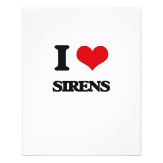 I Love Sirens 11.5 Cm X 14 Cm Flyer