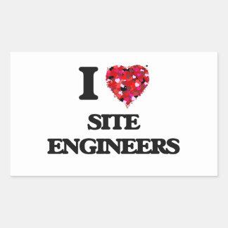 I love Site Engineers Rectangular Sticker