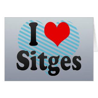 I Love Sitges, Spain. Me Encanta Sitges, Spain Card