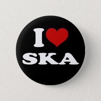 I Love Ska 6 Cm Round Badge