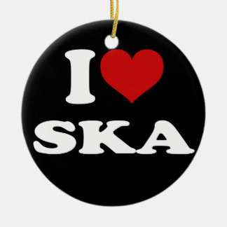 I Love Ska Christmas Ornament