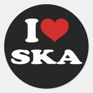 I Love Ska Classic Round Sticker