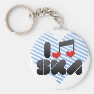 I Love Ska Keychains