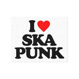I LOVE SKA PUNK CANVAS PRINTS