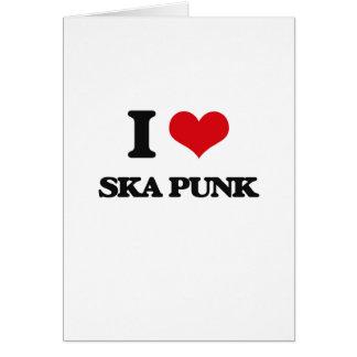 I Love SKA PUNK Greeting Cards