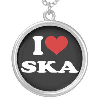 I Love Ska Round Pendant Necklace