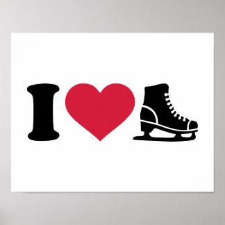 I love skate speed figure skating poster