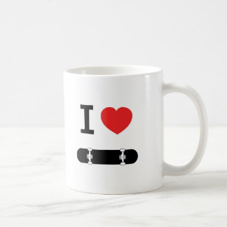 I love skateboarding coffee mug