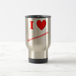 I Love Skateboarding Coffee Mugs