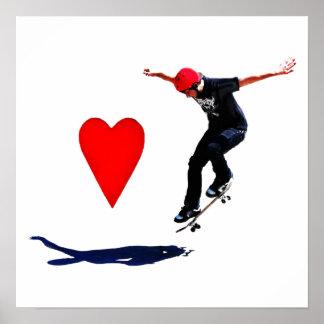 I Love Skateboarding Print