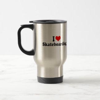 I love Skateboarding Stainless Steel Travel Mug