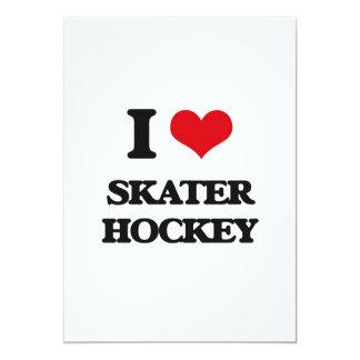 I Love Skater Hockey Custom Invitations