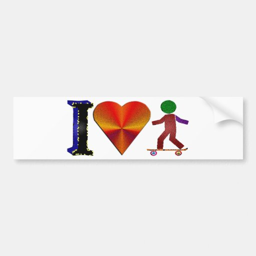 I Love Skaters Bumper Stickers