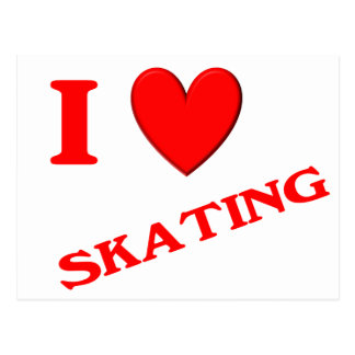 I Love Skating Postcard