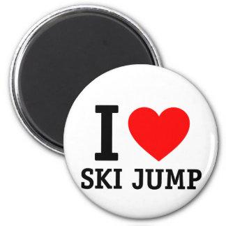 I Love Ski Jump Fridge Magnet