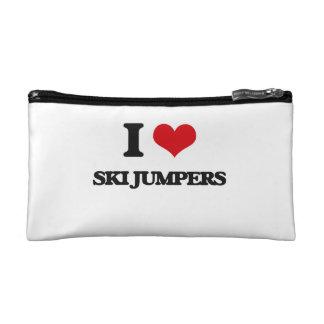 I love Ski Jumpers Makeup Bags