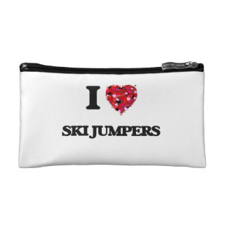 I love Ski Jumpers Cosmetic Bag