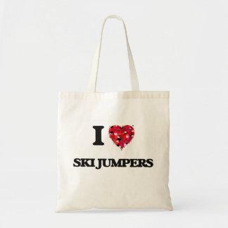I love Ski Jumpers Budget Tote Bag