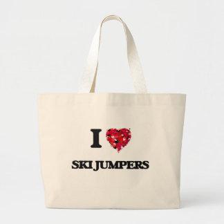 I love Ski Jumpers Jumbo Tote Bag