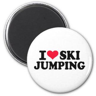 I love Ski Jumping Magnet