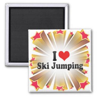 I Love Ski Jumping Fridge Magnets