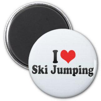 I Love Ski Jumping Magnets