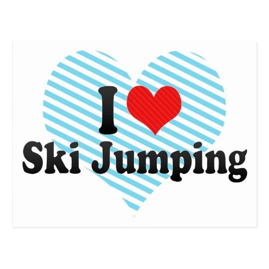 I Love Ski Jumping Postcard