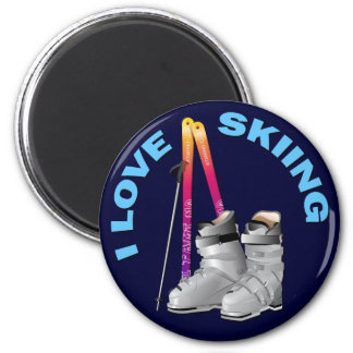 I LOVE SKIING MAGNETS