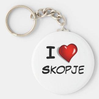 I Love Skopje Basic Round Button Key Ring