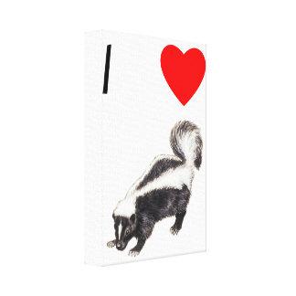 I Love Skunks (2) Canvas Print