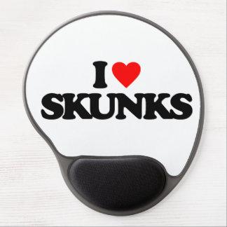I LOVE SKUNKS GEL MOUSE PADS