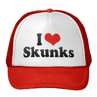 I Love Skunks Mesh Hats