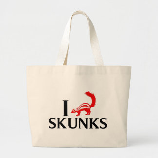 I Love Skunks Jumbo Tote Bag
