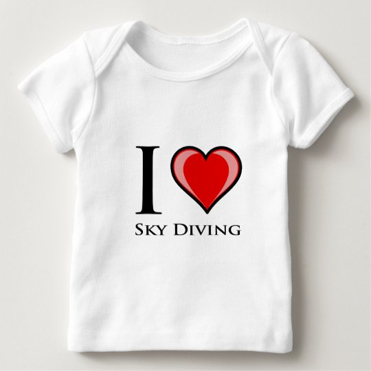 I Love Sky Diving Baby T-Shirt