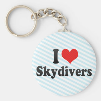 I Love Skydivers Key Chains