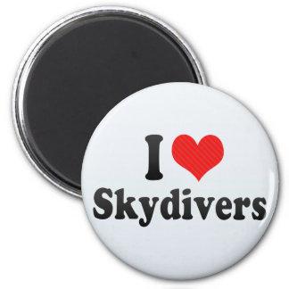 I Love Skydivers Magnet