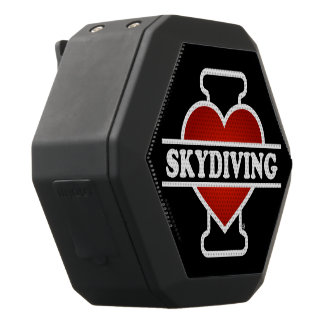 I Love Skydiving Black Boombot Rex Bluetooth Speaker