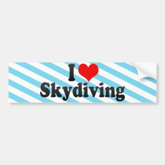 I Love Skydiving Bumper Sticker