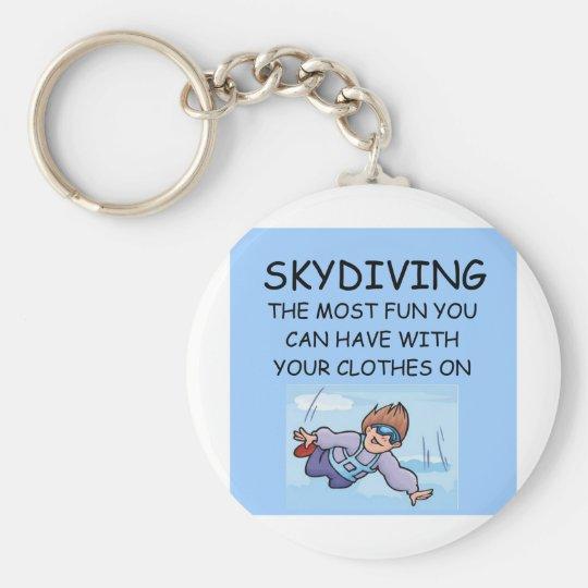 i love skydiving key ring