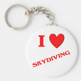 I Love Skydiving Keychain